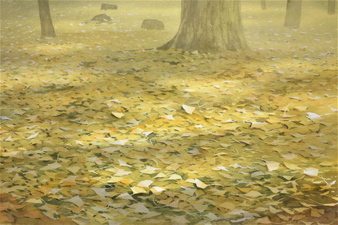 "Work 9 , ""Autumn light"" ,  33x50cm,  270,000yen , sold"