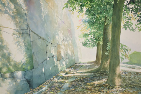 """Work 13, """" Talk with shadows """" , 33x50cm,  270,000yen , sold"""