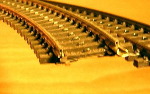 K-Gleis 2100 mit Hohlprofilschiene.