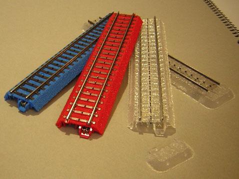 Farbige und transparente C-Gleise.