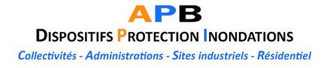 Batardeau amovible pour protection directe sur le batiment et protection périphérique.