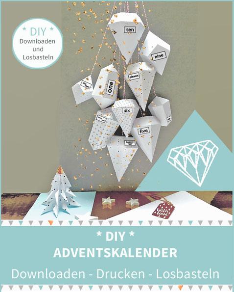 Diamanten Diy Adventskalender Selber Basteln Bastelanleitung