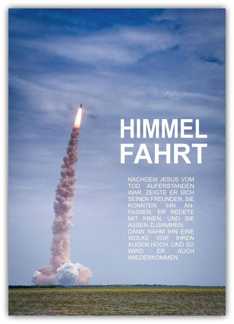Himmelfahrt Plakat Poster Schaukasten Jesus