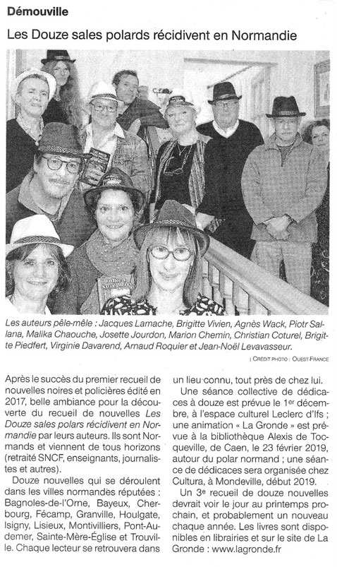 Article Ouest-France du 17/11/2018