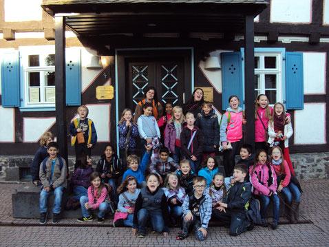 Unser Schulchor auf Chorfreizeit in Grünberg