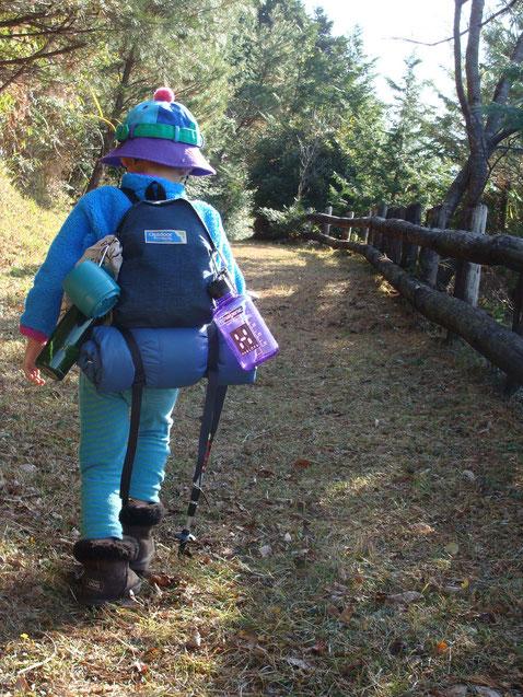 3歳から山歩きさせてますが、これは4歳のときの写真。