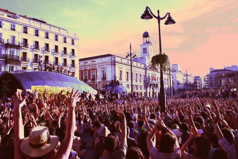 Manifestación del 15M en la Puerta del Sol