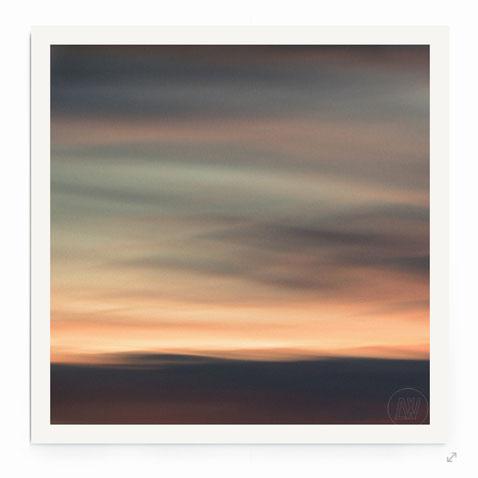 """""""Dreamscape #10"""" Abstrakte Landschaft in Abendstimmung mit warmen Farben.."""
