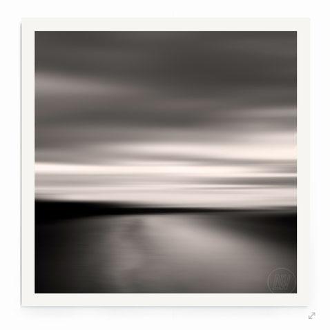 """""""End of the Day"""" von Lena Weisbek. Abstrakte Strand-Landschaft mit Bewegung."""
