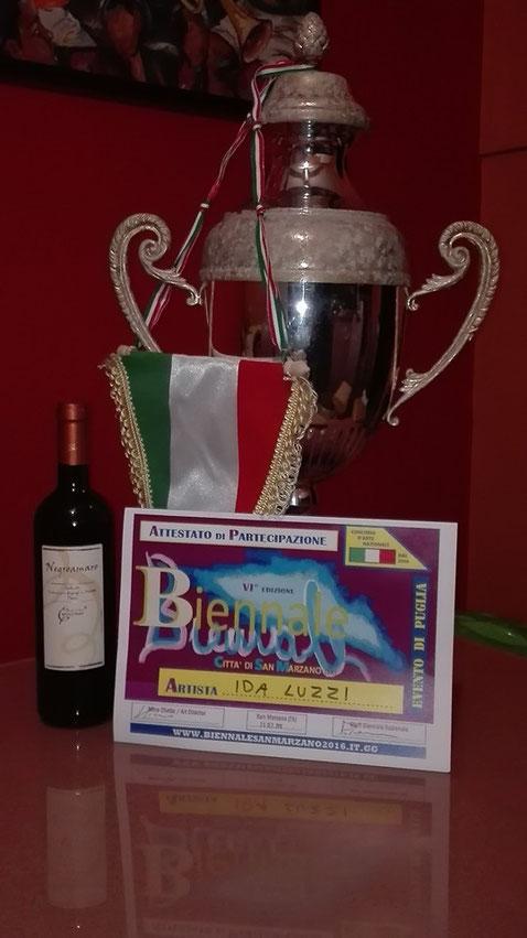 vinto Primo premio biennale San Marzano (ta)ettembre 2016