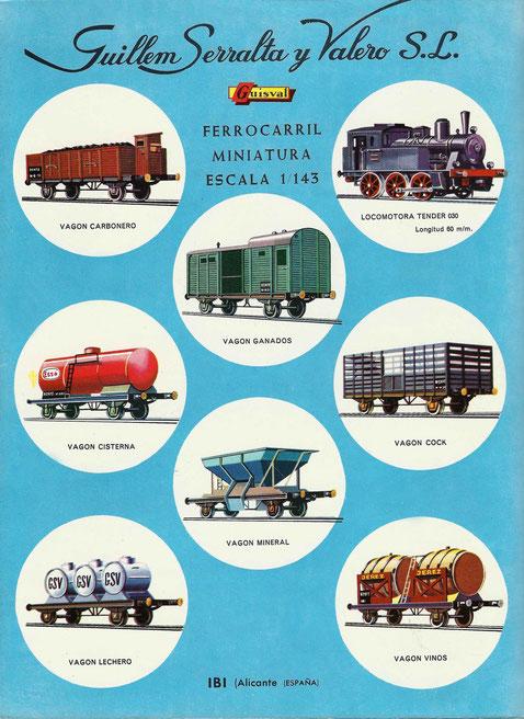 Catálogo de trenes de Guisval, copia del francés de Rail Route.