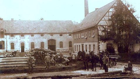 Bild: Wünschendorf Erzgebirge Schrötermühle um 1930