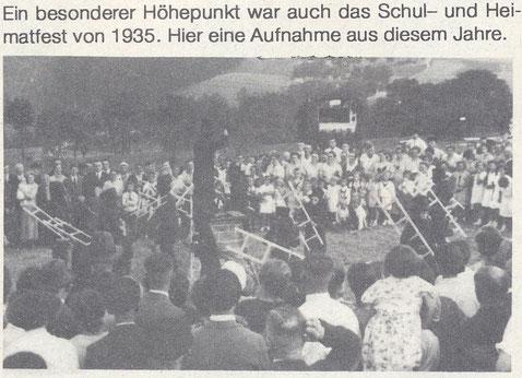 Bild: Teichler Wünschendorf Schul -und Heimatfest 1935 Erzgebirge