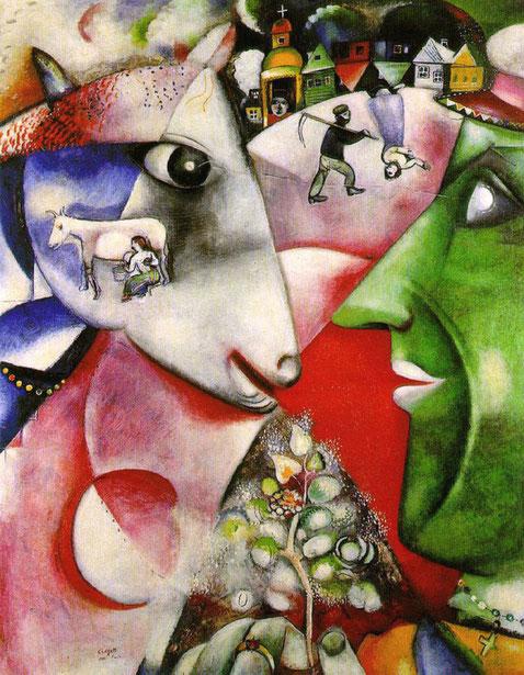 """M. Chagall, """"Io e il villaggio"""" (1911)"""