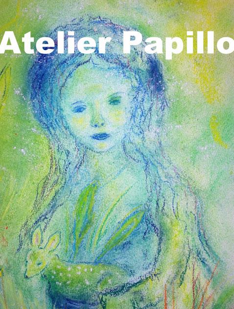 Aus Malunterricht von Ruth Sutter, Pastellschichten