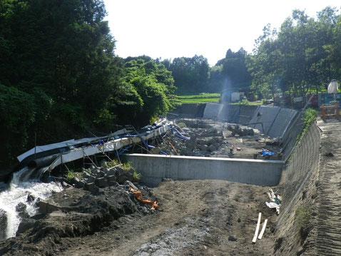 河川の工事状況
