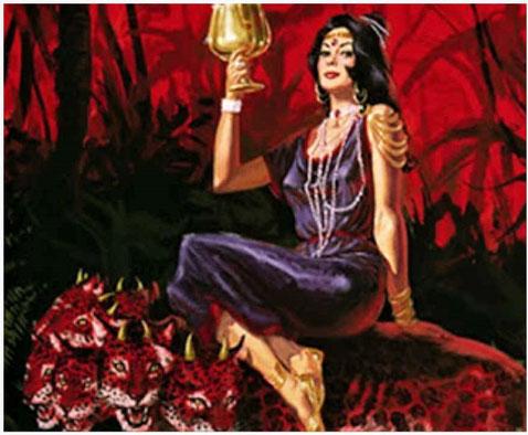 Dans la Bible la fausse religion est représentée sous les traits d'une prostituée luxueusement vêtue Babylone la grande chevauchant une bête sauvage, les rois de la terre ses amants jusqu'au jour où la bête se retourne contre elle et la détruit totalement