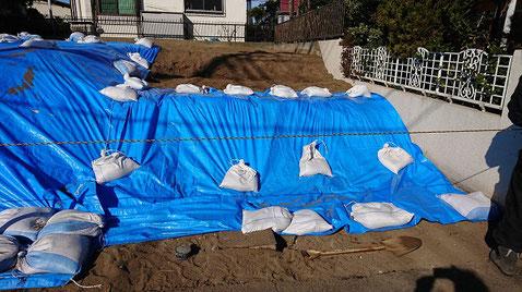 どは仕上げの養生 茅ヶ崎 横浜の解体 日系解体工業株式会社
