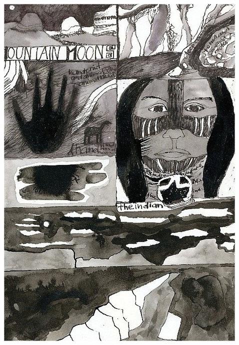 """""""Indianische Landschaft"""" 1993, Tusche TB"""