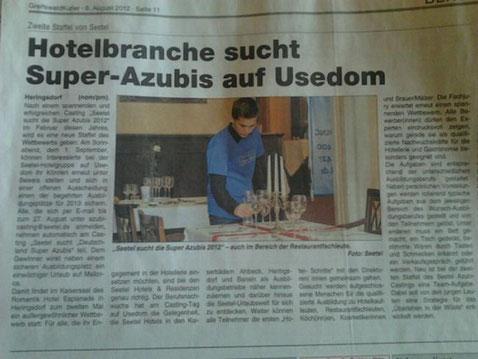 Unser Page Lucas als Superazubi
