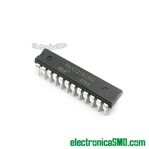 MAX7219 Driver LEDS Serial, max7219, driver led guatemala, electronica, electronico, circuito integrado