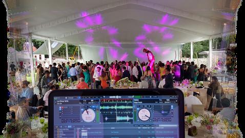 dj para bodas contacto diversión en la pista de baile en boda.