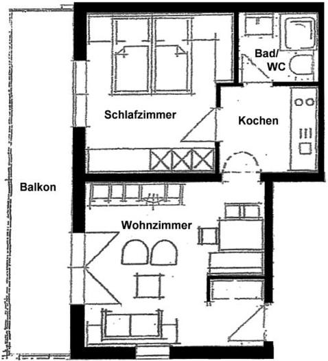 Wertach-Ferienwohnungen.de Grundriss Fewo Regenbogen Nr.1