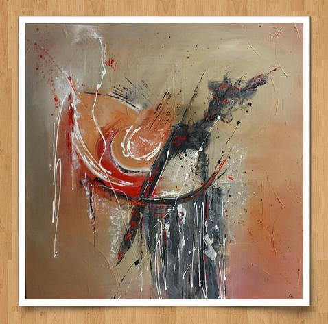 Tears 80 x 80cm   - Acryl auf Leinwand  - Preis auf Anfrage -