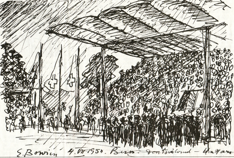 Erwin Bowien ( 1899-1972): Erwin Bowien drew the finals of the World Cup final in Bern in 1954