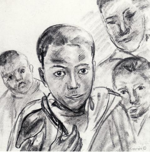 Erwin Bowien (1899-1972): Kinder in Algerien, 1970