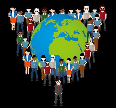 Par métonymie, de nombreux versets utilisent le mot « terre » pour désigner les humains qui y habitent. On pourrait dès lors substituer le mot « terre » par : habitants, peuples, monde, humains, nations, société humaine.