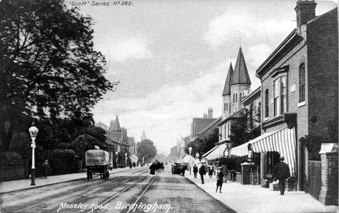 Moseley Road looking towards the City Centre c1910