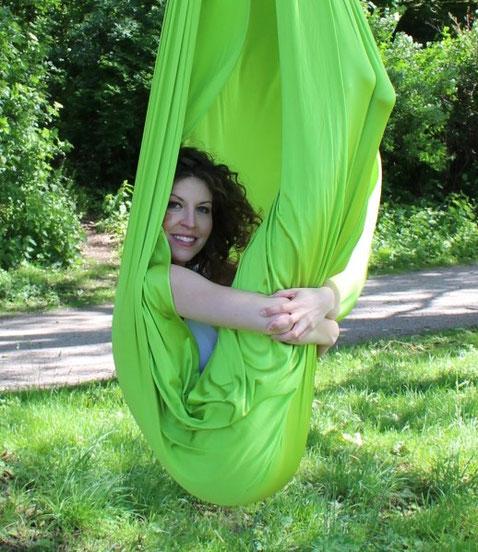 Foto von Janika Staats von Yogaluft® Aerial Yoga & Luftyoga Lehrerin