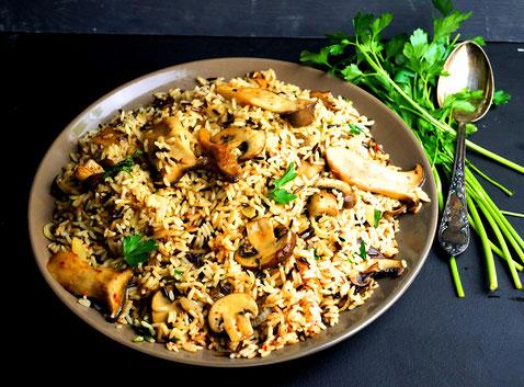 Reis und Pilze, wie gut ist das denn?