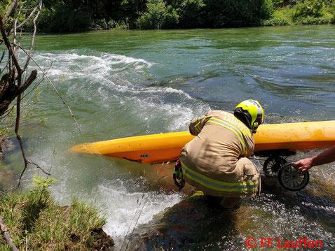 Feuerwehr, Blaulicht, FF Lauffen, Bootsbergung