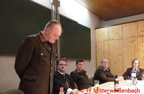 Feuerwehr, Blaulicht, Jahresvollversammlung, Mitterweissenbach