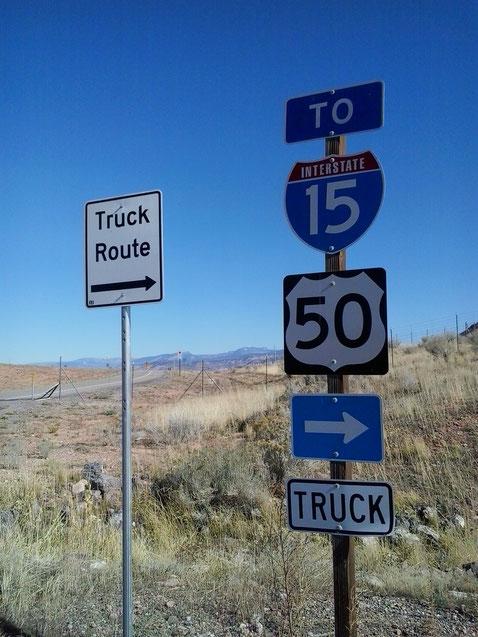 Bild: HDW-USA, Mister T. und der Weiße Büffel, Roadtrip, Amerika, Sahli Walsrode, Utah, Interstate 15, Truck Route