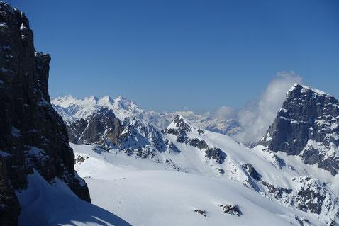 Skitour, Schweiz, Zwächten, Gross Spannort, Bärenstock, Meiental, Gorezmettlen, Rossbiel, Rossfirn, Chüefad, Wetterhorn, Mittelhorn, Rosenhorn