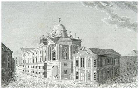 Das alte Burgtheater am Michaelerplatz in Wien