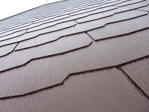 熊本市M様邸のカラーベスト・スレート屋根塗り替えを防カビ防藻塗料で塗替え完成です。