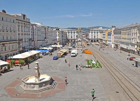Linz, Austria Hauptplatz