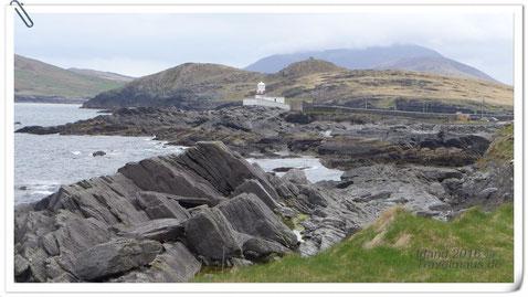 Blick auf den Leuchtturm der Valentia-Insel (Ring of Kerry)