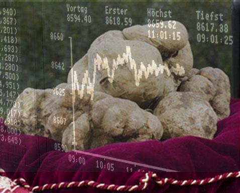 Die Trüffelbörse - Borsino del Tartufo ist ein Werkzeug, das Alba Tartufi der Öffentlichkeit zur Verfügung stellt, um über die Preise der Trüffel auf dem Laufenden zu bleiben. Mit der kostenlosen Registrierung bei der Trüffelbörse erhalten ...