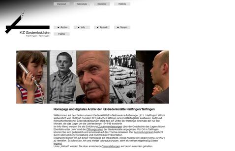 Internetseite der KZ-Gedenkstätte Hailfingen-Tailfingen mit dem Reiter Archiv. Bild: Screenshot.*