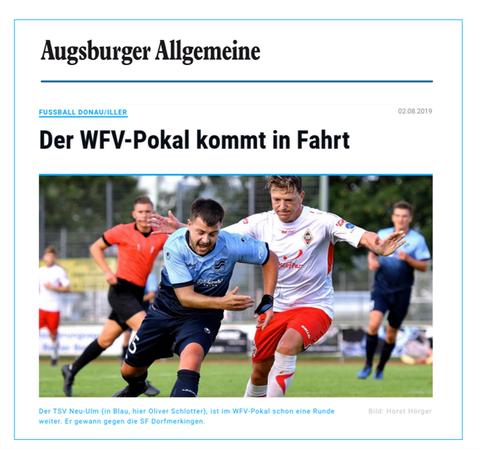 """Bericht in der """"Neu-Ulmer Zeitung"""""""