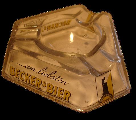 Vorkriegs Aschenbecher Becker Brauerei St.Ingbert