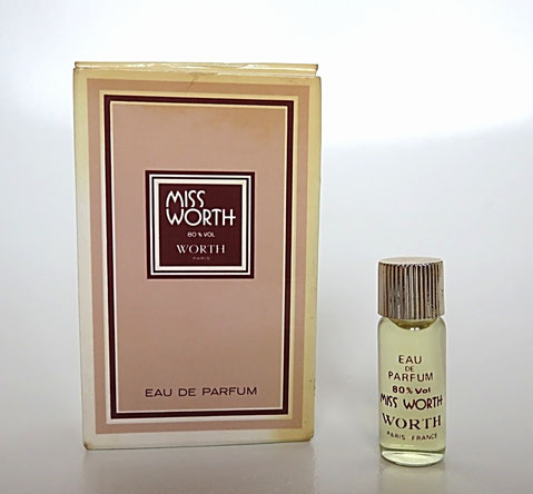 WORTH - MISS WORTH : MINIATURE TUBULAIRE EAU DE PARFUM