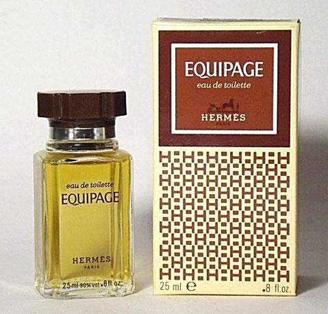 """EQUIPAGE - EAU DE TOILETTE POUR HOMME 25 ML - BOÎTE DECOREE AVEC LE """"H"""" DE HERMES"""