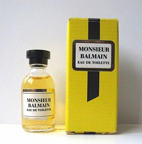 MONSIEUR BALMAIN - MINIATURE EAU DE TOILETTE, FLACON SECTION RONDE - BOUCHON DISQUE ROND