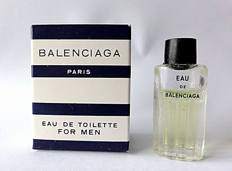 BALENCIAGA - EAU DE TOILETTE FOR MEN - ANCIENNE MINIATURE AVEC BOUCHON PLASTIQUE NOIR CLIPE
